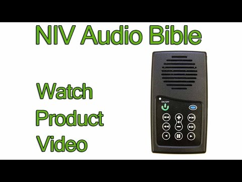 NIV Audio Bible Player (Product Review) | New International Version 1984 Edition