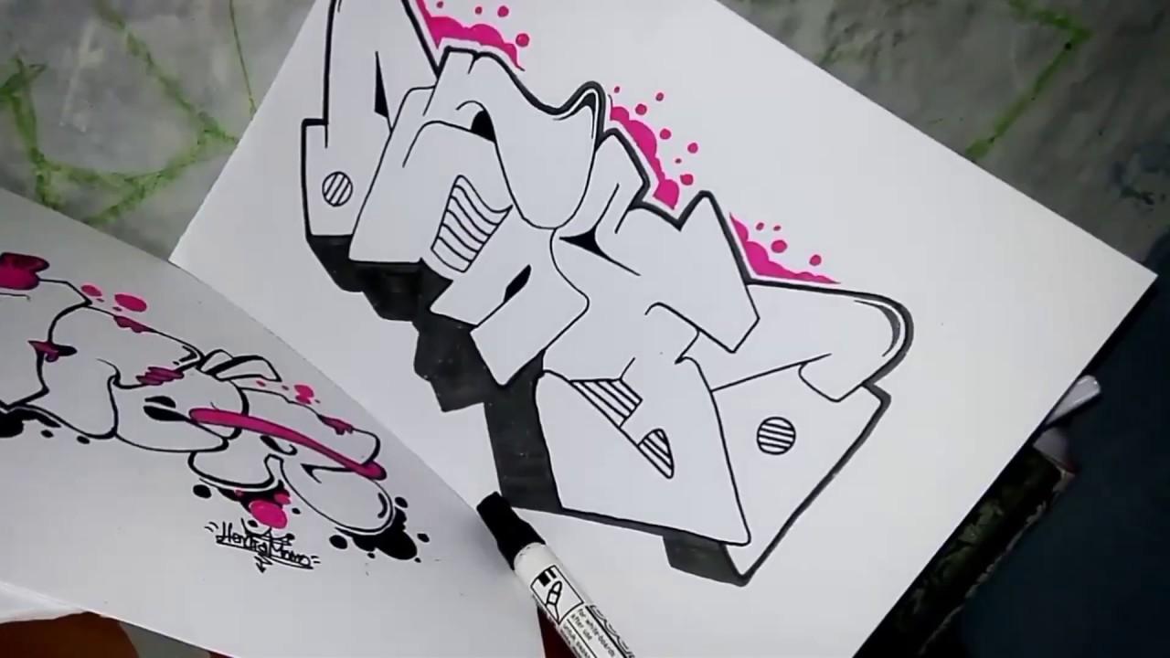 Graffiti simpel membuat graffiti untuk pemula