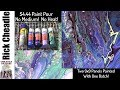 Paint Pouring For $4.44  No Pouring Medium!  No Heat Required!  Plenty Of Cells. Vibrant Colors