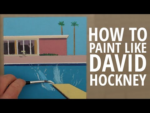 HOW TO PAINT LIKE DAVID HOCKNEY WITH CIRCLE LINE | CANVAS