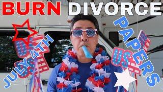 Burning Divorce Papers smells like FREEDOM