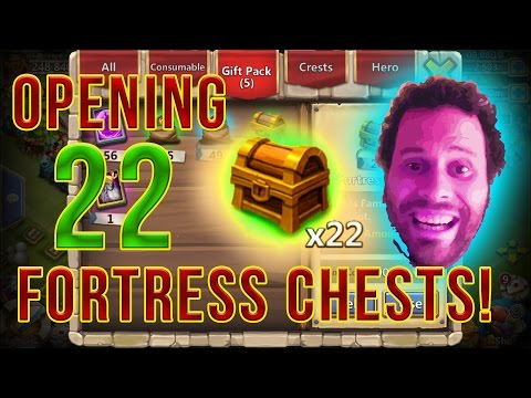 Opening 22 Fortress Feud Chests INSANE $5000 Giveaway ANNOUNCEMENT Castle Clash