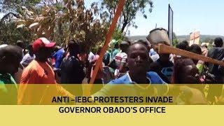 Anti - IEBC protesters invade governor Obado's office