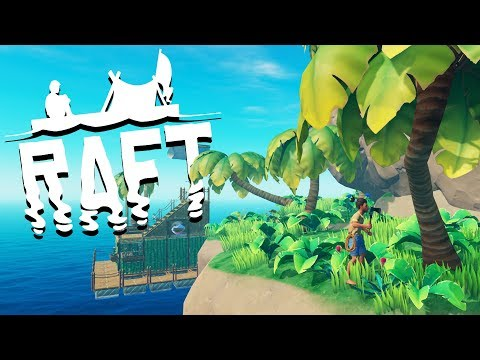 HUGE ISLAND Exploration! - SHARK ATTACKS and Raft Building - Raft Gameplay