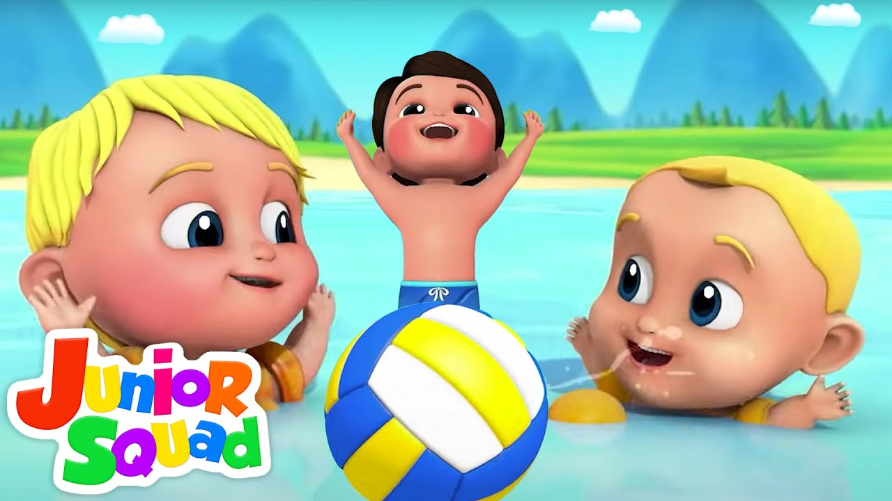 Swimming Song | Let's Go Swimming | Nursery Rhymes and Kids Songs | Baby Song with Junior Squad