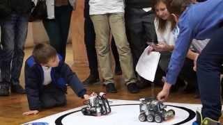 Полуфинал соревнований роботов-сумоистов на Фестивале Науки в Белгороде