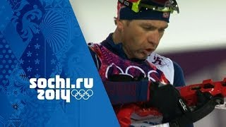 Men's Biathlon 10km Sprint - Bjoerndalen Wins Gold | Sochi 2014 Winter Olympics