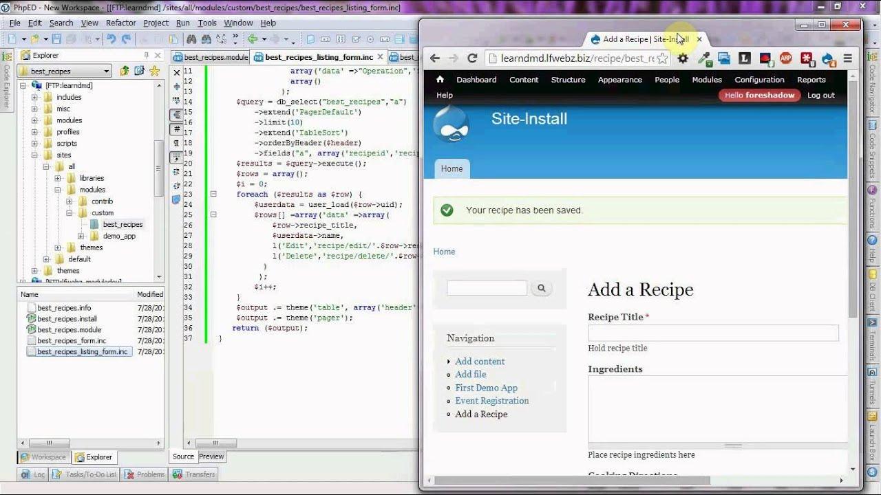 Drupal 7 module programming tutorial part 3b youtube.