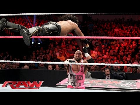 Ryback vs. Seth Rollins: Raw, October 19, 2015