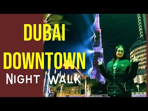 Downtown Dubai Night View Around Streets 2021 | View From Lens | Tourist Destination |Tourism Hub
