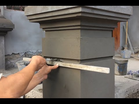 Awesome Sand And Cement | How to Build Creative For Column Correctly