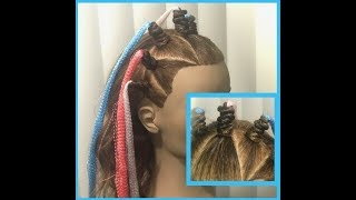 Trenzas Tornillo con Cinta - Twisted Braids with Ribbon