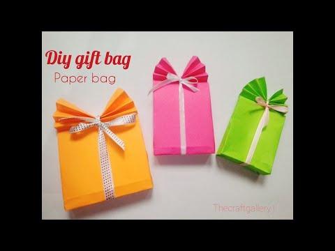 Paper Gift Bag Handmade | DIY crafts: How to Make Easy Handmade Paper Gift Bag