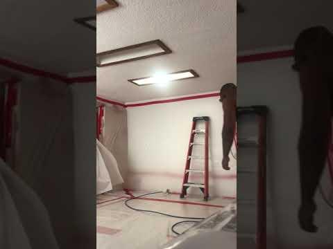 Wet removal of asbestos popcorn texture