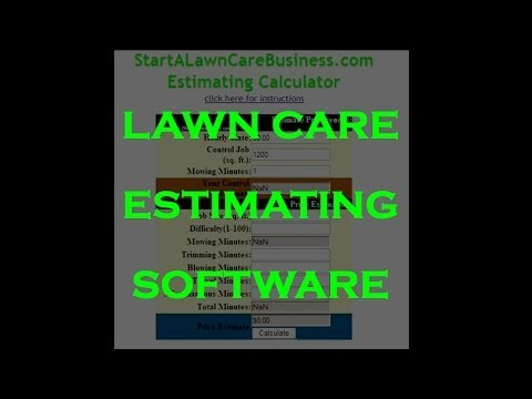 How to estimate (quote) a residential yard for a lawn care service business.