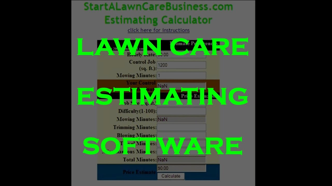 lawn care price list