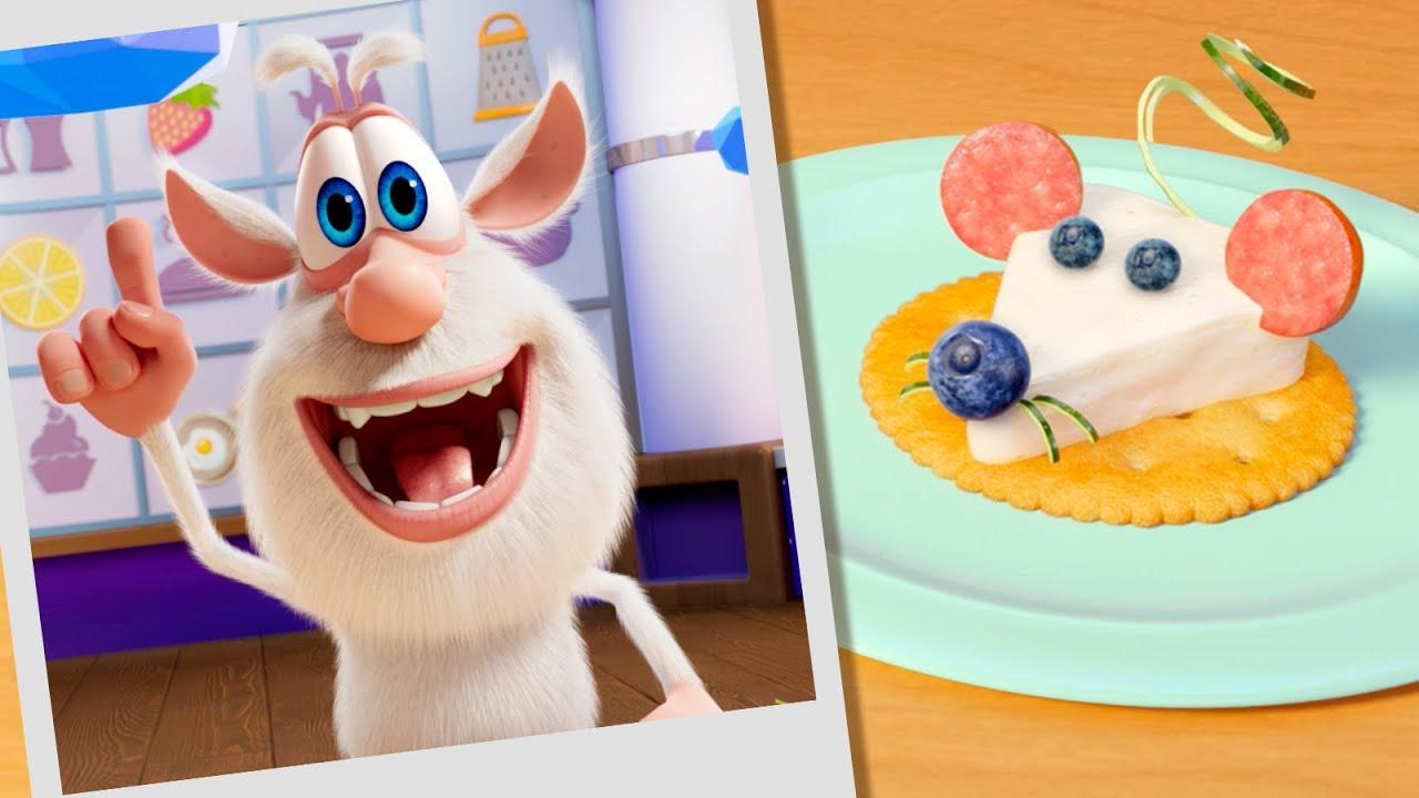 بوبا 🧀 لغز الطعام: سربرايز الجبنة + حلقات الجبن 🎁 مسلسلات الطبخ - كارتون مضحك للأطفال