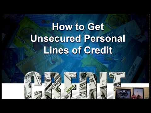 Unsecured Personal Lines of Credit