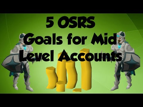 5 GOALS TO GET FOR MID LEVEL ACCOUNTS IN OSRS