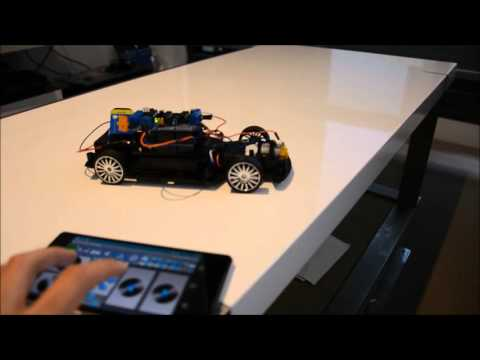 Simple RC car for beginners Android control via Bluetooth
