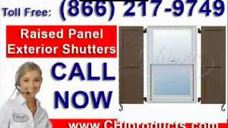 Chiproducts - Raised Panel Composite Exterior Shutters - Www.chiproducts.com