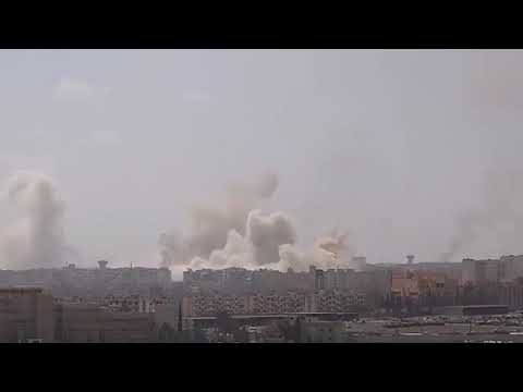 SYRIAN ARAB ARMY: 4TH MECHANIZED DIVISION GOLAN-400 SHELLING TOWARS MILITANT POSITIONS
