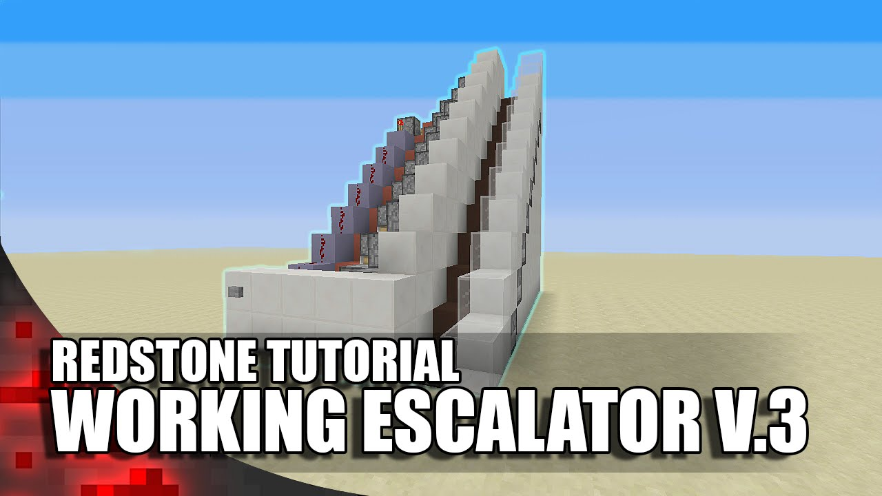 Minecraft working escalator v 3 youtube