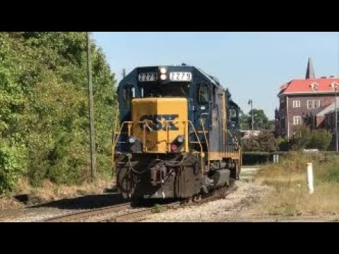 [CSXT]2279 EMD Road Slug & 6492 EMD GP40-2 On Y205-21 Shoves Back W/ 2nd Gen K5LA In F.NC