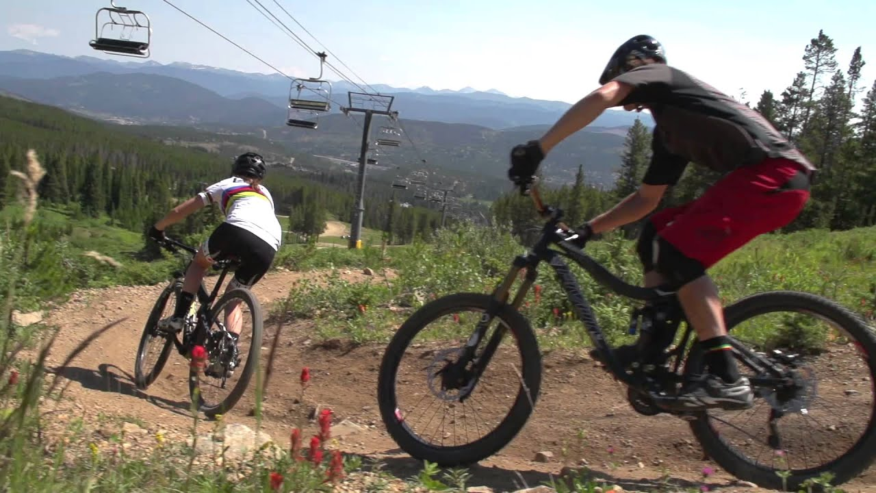 mountain bike at breck this summer - youtube