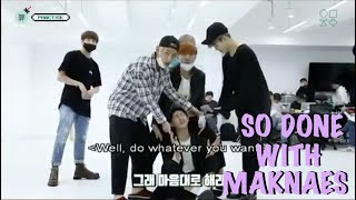 BTS WHEN HYUNGS ARE SO DONE WITH MAKNAES #2