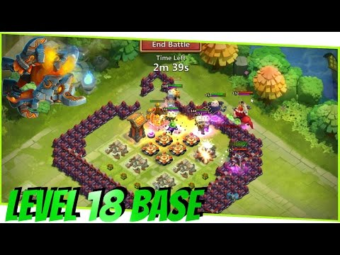 BASE DESIGN Townhall 18 | Corner Base + Death Box DORFAUFBAU ಠ Castle Clash WELLE O-S | RaeshCor