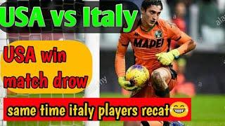 Football U S A vs Italy 2 vs 2