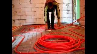 теплый пол под стяжку,системы отопления частныого дома(Укладка трубы для теплого водяного пола Делал сам,в общем все получилось,работает отлично. Если видео было..., 2015-10-29T09:15:53.000Z)
