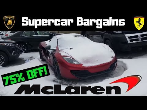 RARE FOOTAGE! Crashed supercars selling cheap!