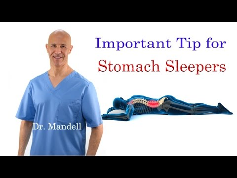 Important Tip for Stomach Sleepers  (STOP Neck & Back Pain) - Dr Mandell