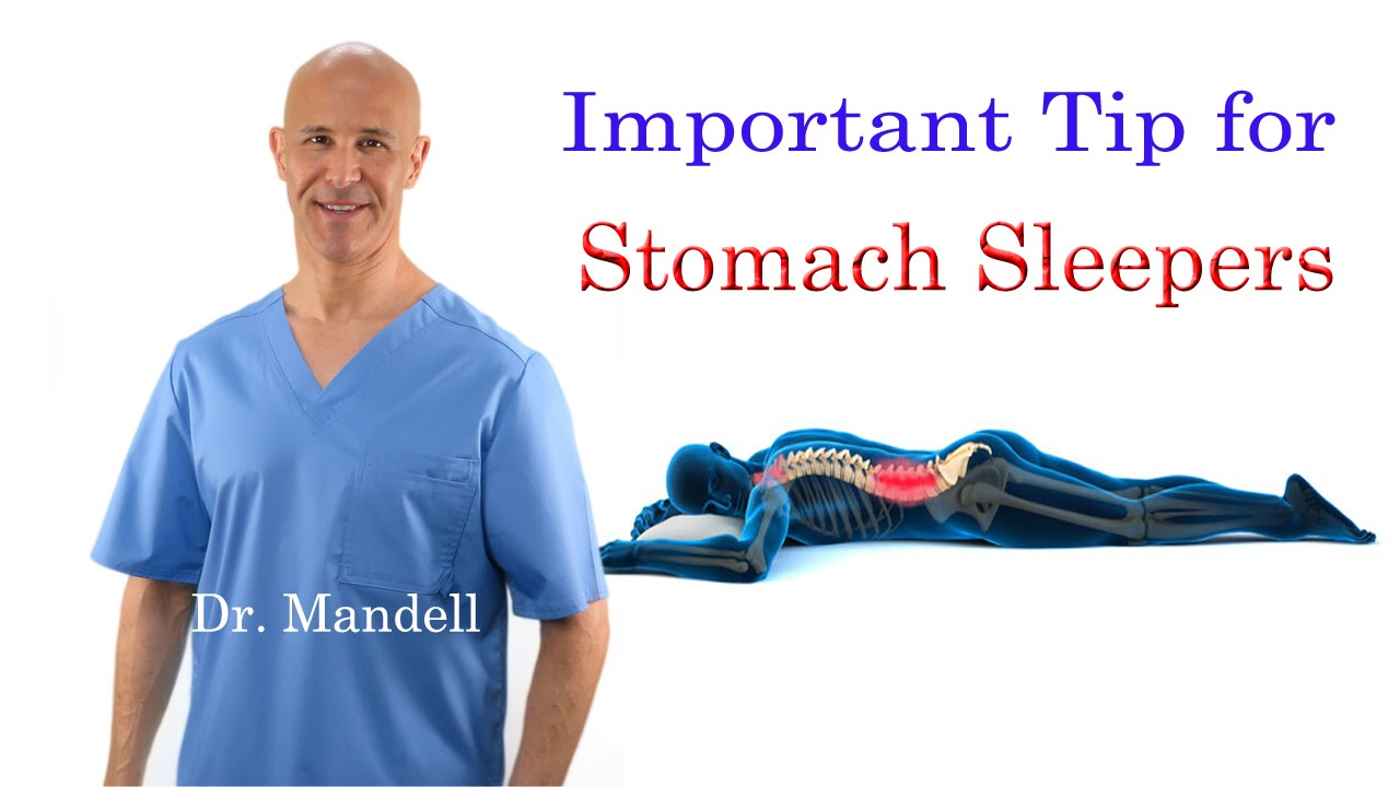 Adjustable Bed Upper Back Pain : Important tip for stomach sleepers stop neck back pain