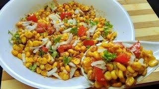 चटपटी स्वीट कोर्न चाट   Spicy Sweet Corn Chaat   Instant And Easy Corn Chaat Recipe   Masala Corn .
