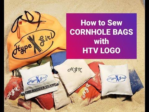 How to Sew CornHole Bags  +  HTV LOGO
