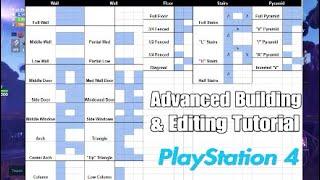 Fortnite- Advanced Building Tutorial: Editing Walls, Stairs, etc