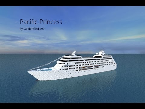 Pacific Princess Cruise Ship In Minecraft Youtube