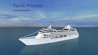 Pacific Princess Cruise Ship in Minecraft!