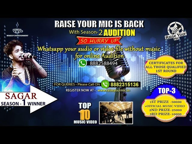 Raise Your Mic IS BACK | Season - 2 | HURRY UP