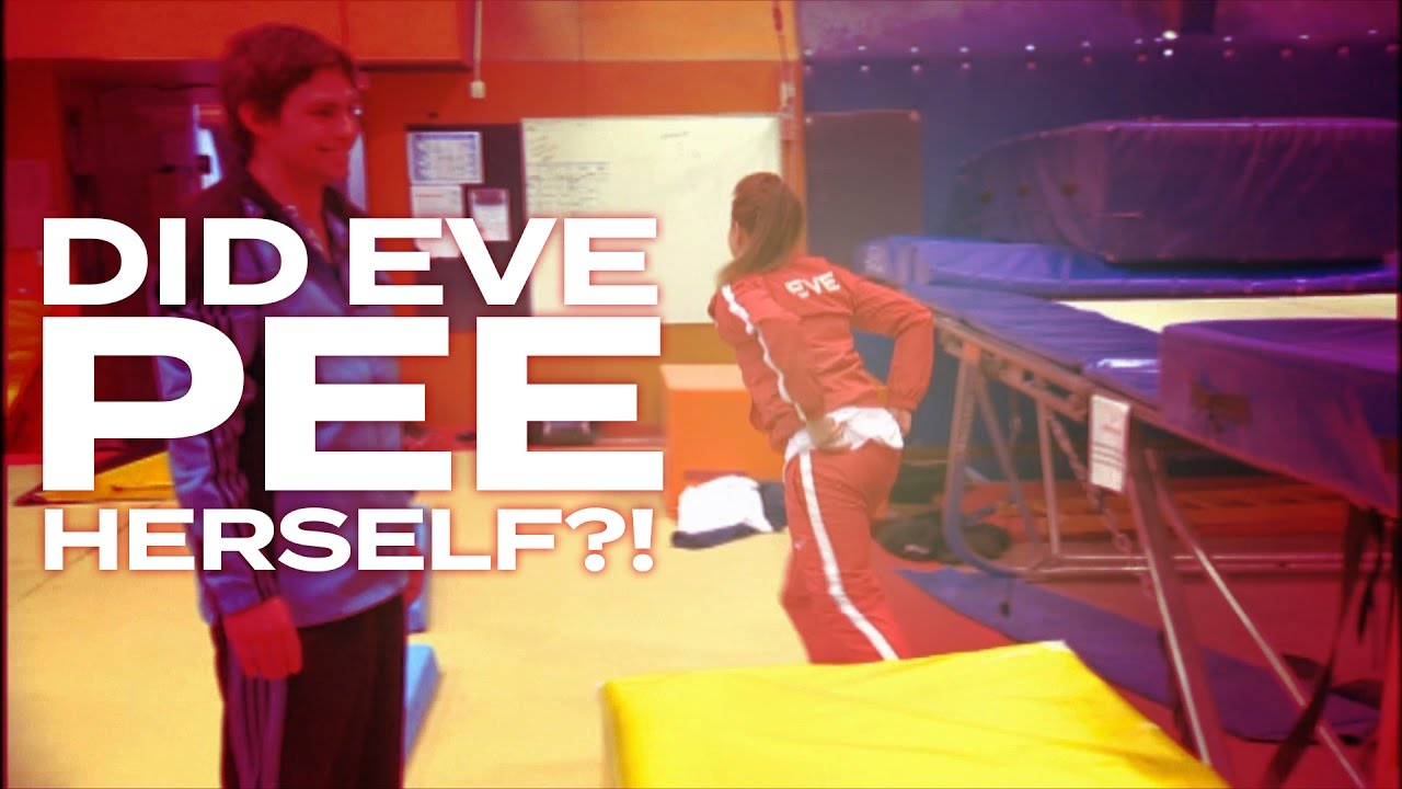 DID EVE PEE HERSELF?! - Eve has a bit of a bladder issue during training for the Adam vs Eve trampolining challenge.