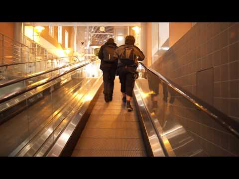 Norway, Oslo, Central Railway Station / Bus Exchange, 3X moving sidewalk