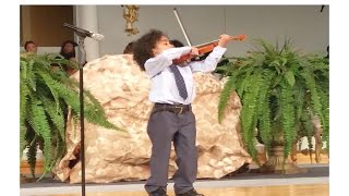 ode to joy www caesarviolin com beethoven s 9th played by caesar sant at 6 yr old