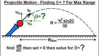 Physics - Mechanics: Projęctile Motion (31 of 31) Find Theta=? for Maximum Range