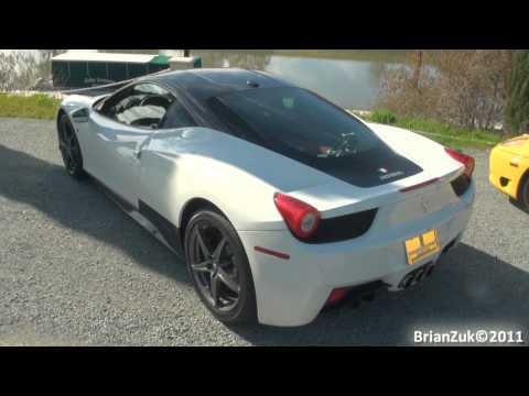 White Ferrari 458 Italia