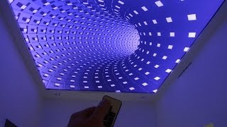 Repeat youtube video 3D Infinity Ceiling Stretch Ceiling 3D illusion Effect on Stretch Ceiling by elektric-junkys
