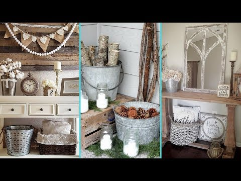 ❤DIY Shabby chic style Galvanized Tub & Bucket decor Ideas❤ | Home decor Ideas| Flamingo Mango