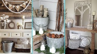 ❤DIY Shabby chic style Galvanized Tub & Bucket decor Ideas❤ | Home decor Ideas| Flamingo Mango